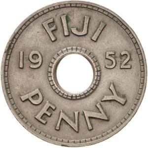 Fiji / Penny 1952 - reverse photo