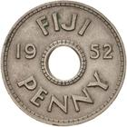 Penny 1952: Photo Coin - 1 Penny, Fiji, 1952
