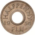 Fiji / Halfpenny 1950 - reverse photo