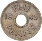 Penny 1945: Photo Coin - 1 Penny, Fiji, 1945