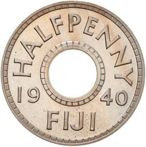 Fiji / Halfpenny 1940 - reverse photo