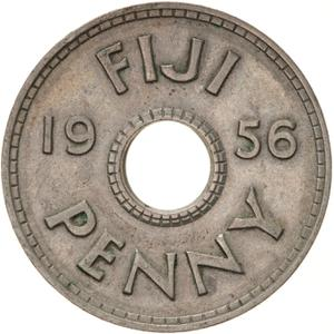 Fiji / Penny 1956 - reverse photo