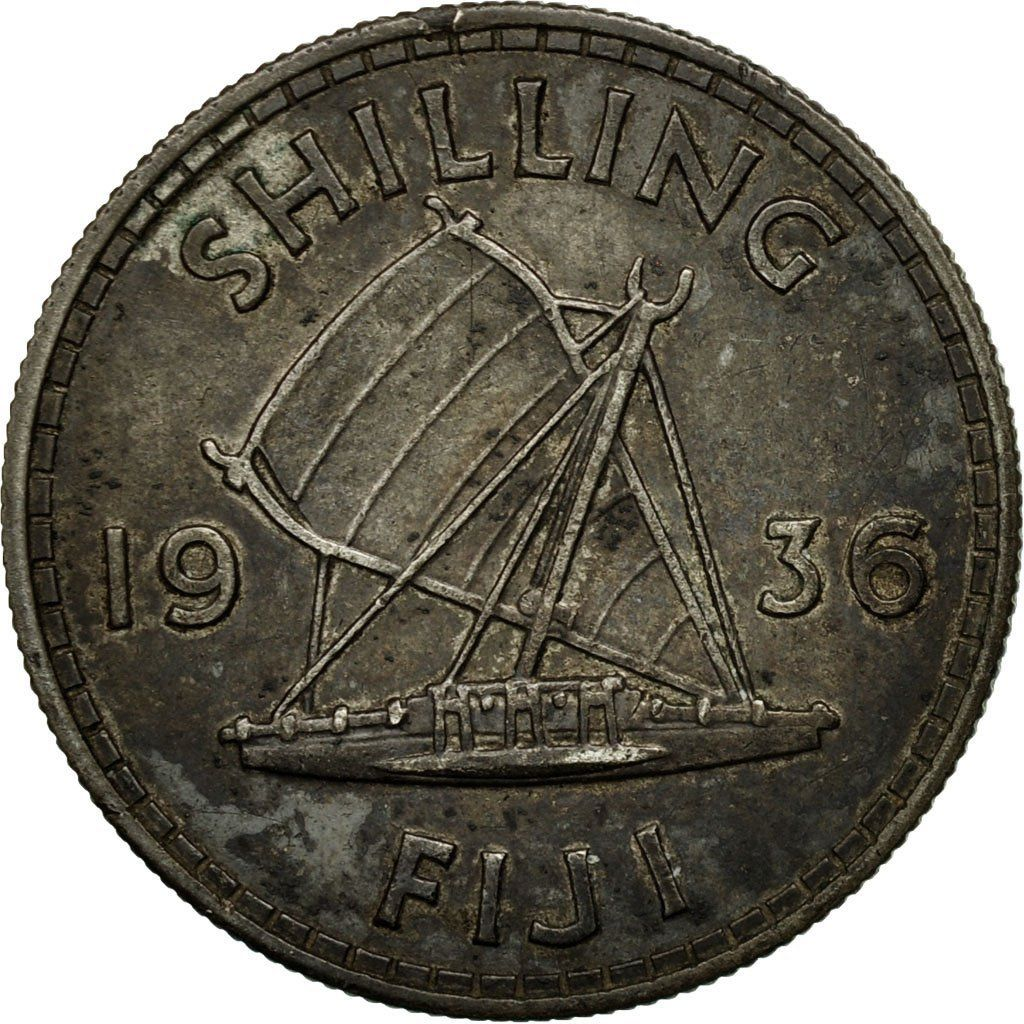 Shilling 1936: Photo Coin, Fiji, George V, Shilling, 1936