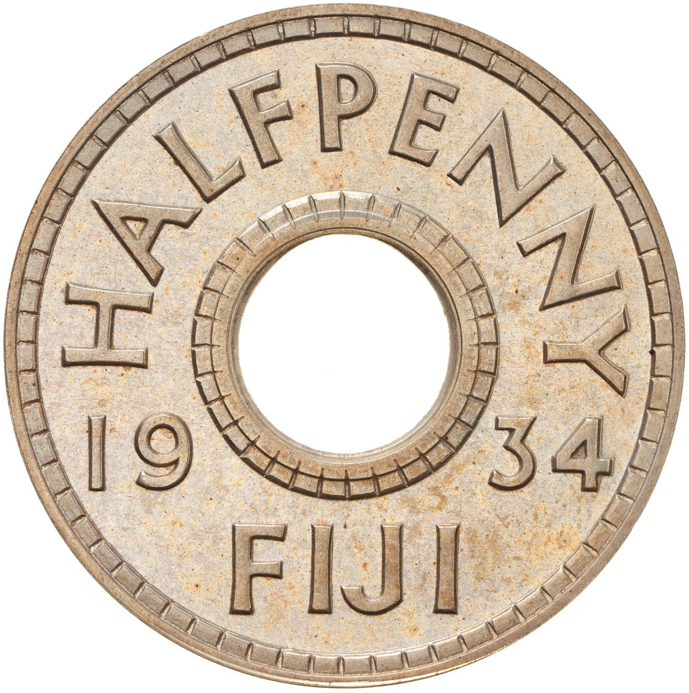 Half Penny: Photo Proof Coin - 1/2 Penny, Fiji, 1934