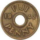 Penny 1942: Photo Coin - 1 Penny, Fiji, 1942