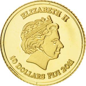 Fiji / Ten Dollars 2011 Gold Amazon - obverse photo