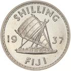 Shilling 1937: Photo Proof Coin - 1 Shilling, Fiji, 1937