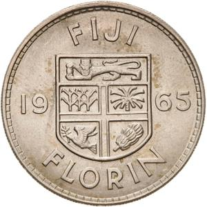 Fiji / Florin 1965 - reverse photo