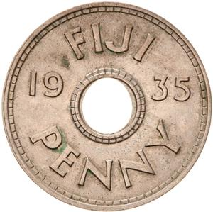 Fiji / Penny 1935 - reverse photo