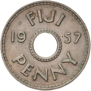 Fiji / Penny 1957 - reverse photo