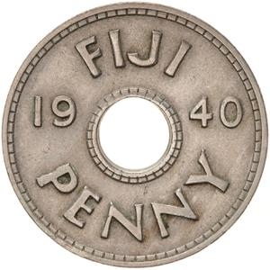 Fiji / Penny 1940 - reverse photo