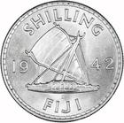 Shilling 1942: Photo Fiji Islands 1942 Shilling