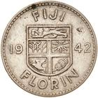 Fiji / Florin 1942 - reverse photo