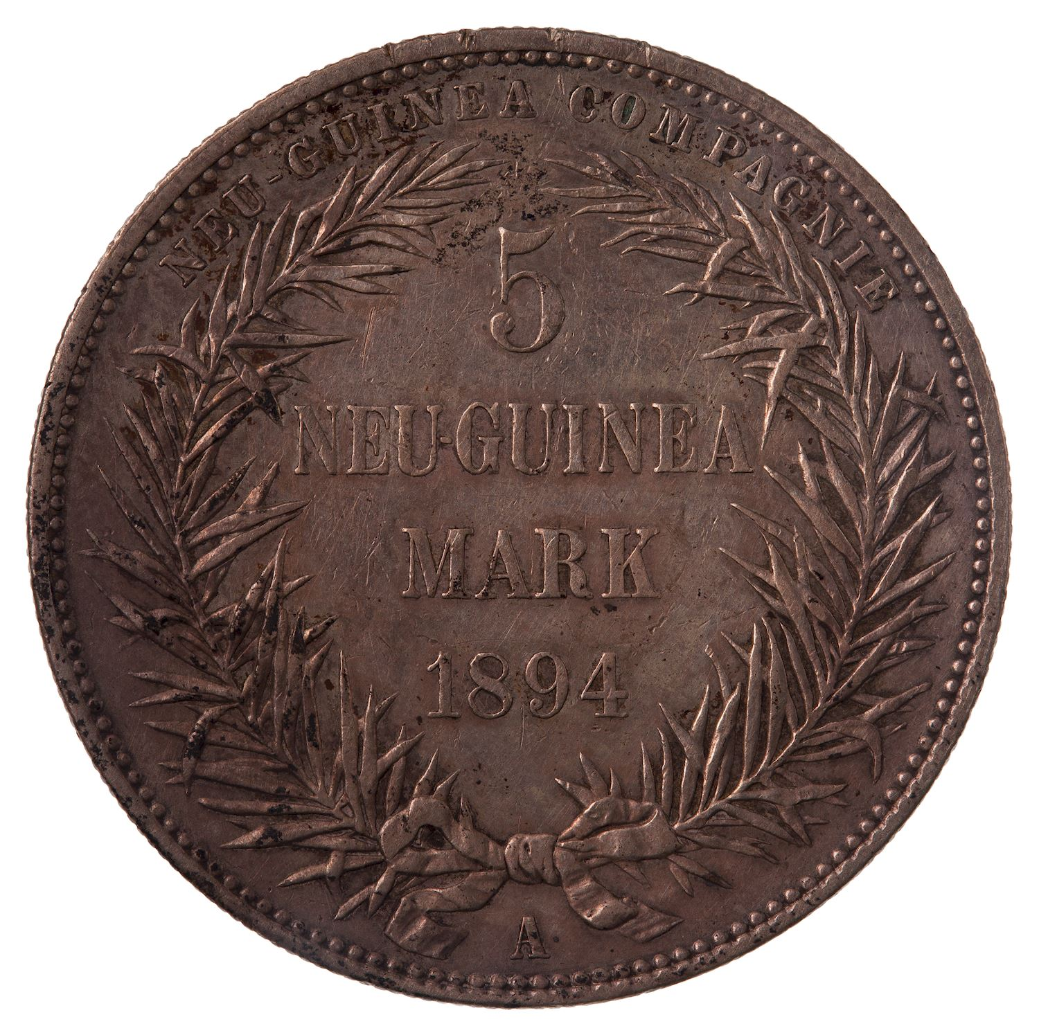 Five Marks 1894: Photo Coin - 5 Marks, German New Guinea (Papua New Guinea), 1894