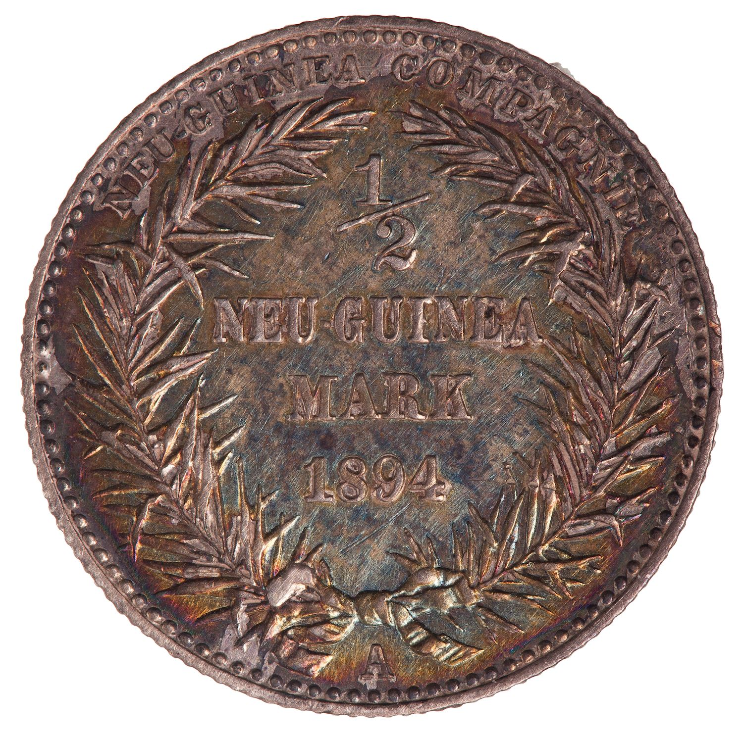 Half Mark 1894: Photo Coin - 1/2 Mark, German New Guinea (Papua New Guinea), 1894