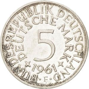 Germany / Five Marks 1961 - reverse photo