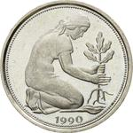 Germany / Fifty Pfennigs 1990 - obverse photo
