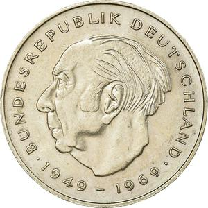 Germany / Two Marks 1981 Theodor Heuss - obverse photo
