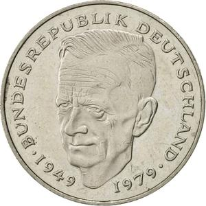 Germany / Two Marks 1991 Kurt Schumacher - obverse photo