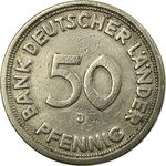 Germany / Fifty Pfennigs 1949 - reverse photo