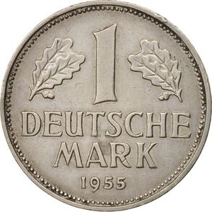 Germany / One Mark 1955 - reverse photo