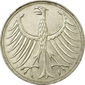 Germany / Five Marks 1966 - obverse photo