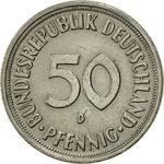 Germany / Fifty Pfennigs 1967 - reverse photo
