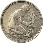 Germany / Fifty Pfennigs 1982 - obverse photo