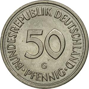 Germany / Fifty Pfennigs 1981 - reverse photo