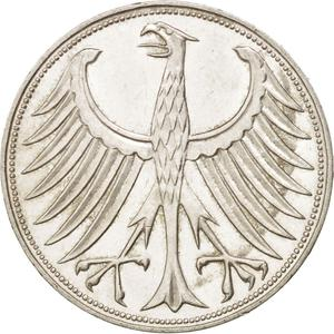 Germany / Five Marks 1961 - obverse photo