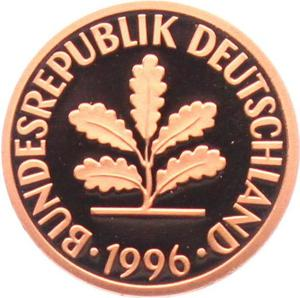Germany / Two Pfennigs 1996 - obverse photo