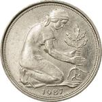 Germany / Fifty Pfennigs 1987 - obverse photo