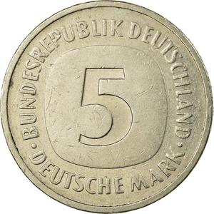 Germany / Five Marks 1986 - reverse photo