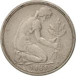 Germany / Fifty Pfennigs 1968 - obverse photo