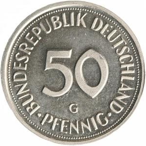 Germany / Fifty Pfennigs - reverse photo