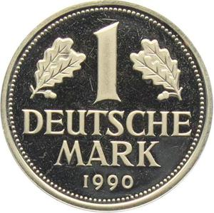 Germany / One Mark 1990 - reverse photo