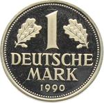Germany / One Mark 1990 / Proof 1990 D (Munich Mint) - reverse photo