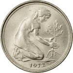 Germany / Fifty Pfennigs 1972 - obverse photo