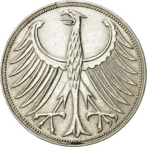 Germany / Five Marks 1959 - obverse photo