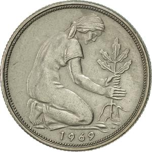 Germany / Fifty Pfennigs 1969 - obverse photo