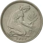 Germany / Fifty Pfennigs 1950 - obverse photo