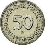 Germany / Fifty Pfennigs 1983 - reverse photo