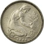 Germany / Fifty Pfennigs 1966 - obverse photo