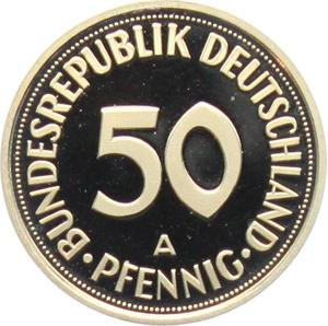 Germany / Fifty Pfennigs 1997 (mint sets only) - reverse photo