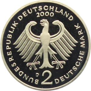 Germany / Two Marks 2000 Ludwig Erhard (mint sets only) - reverse photo