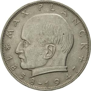 Germany / Two Marks 1966 Max Planck - obverse photo