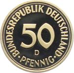 Germany / Fifty Pfennigs 1996 (mint sets only) - reverse photo