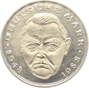 Germany / Two Marks 1993 Ludwig Erhard - obverse photo