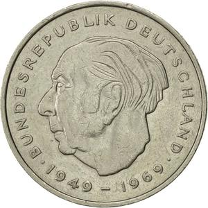 Germany / Two Marks 1974 Theodor Heuss - obverse photo