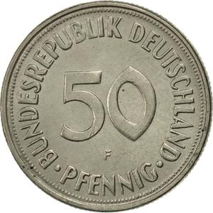 Germany / Fifty Pfennigs 1970 - reverse photo